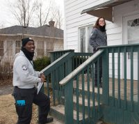 AmeriCorps Memebers and Red Cross volunteers working to help Flint citizens during the water crisis.