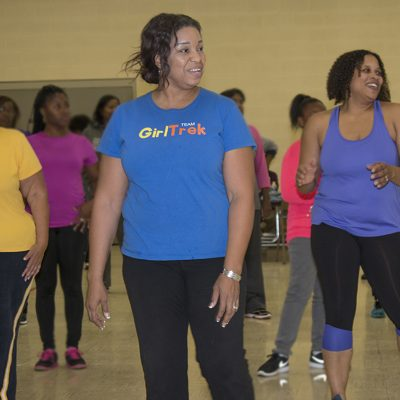 Flint elementary school draws adults for grown-up gym class