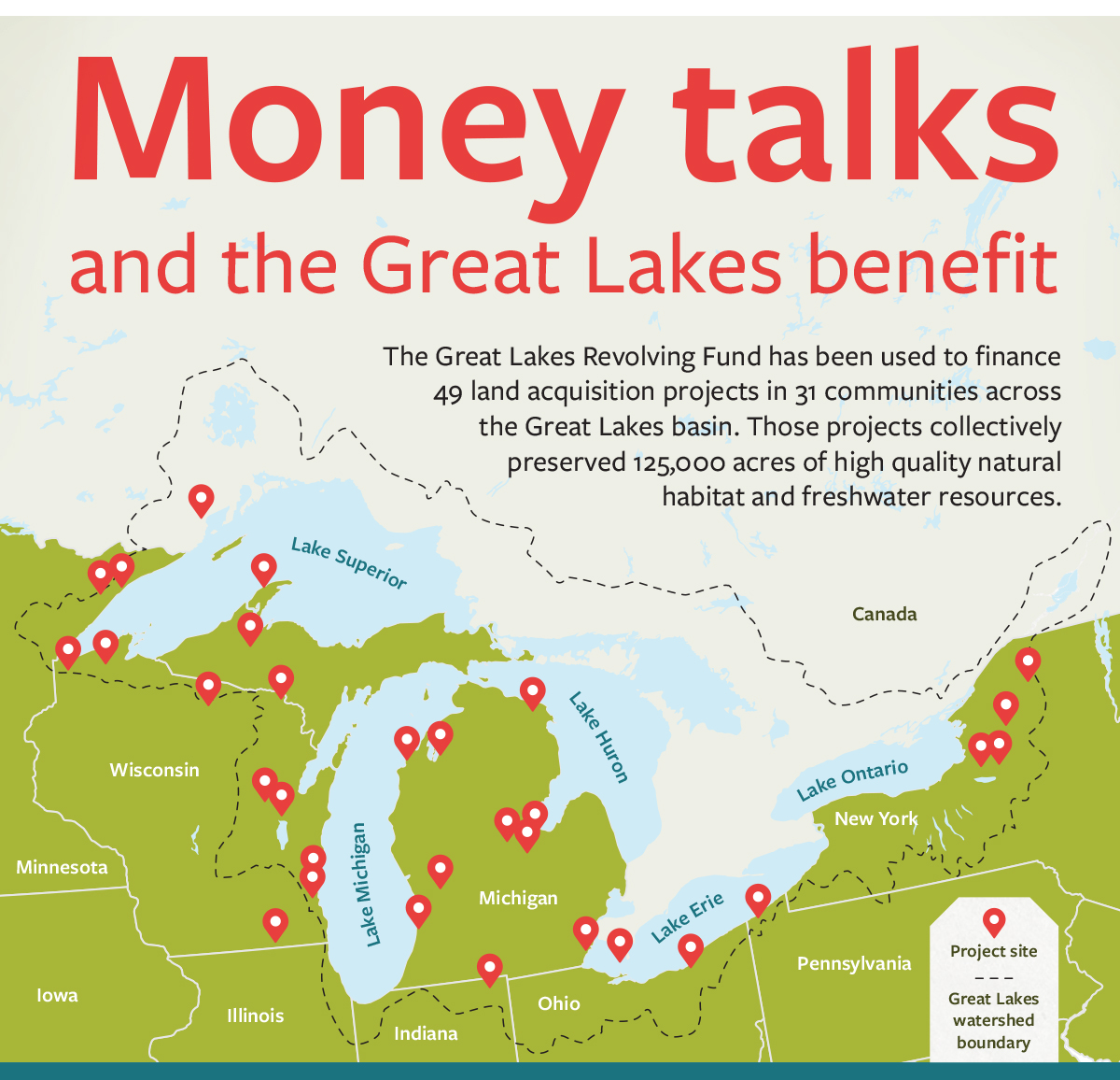 Innovative Fund Protects Natural Assets In The Great Lakes Basin - Map of canada with great lakes