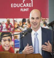 Charles Stewart Mott Foundation President, Ridgway White, at the Educare Flint opening celebration