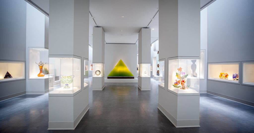 The new Contemporary Craft Wing showcases the FIA's collections of glass, ceramics, metal working and other forms of contemporary crafts.