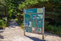 Baldy Trailhead at Arcadia Dunes sign