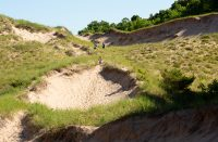 Before Arcadia Dunes was preserved, a developer planned to turn this dune into a bunker on a private golf course.