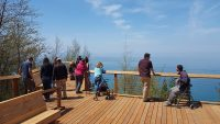 The Overlook Trail gives people with disabilities a chance to enjoy a stunning, bird's eye view of Lake Michigan.