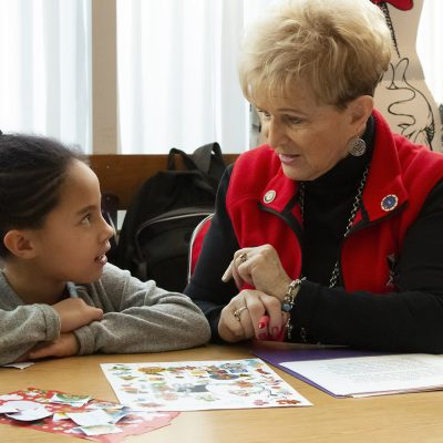 Energetic at 76, AmeriCorps member helps third-graders find joy in reading