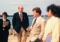 Visiting the Marine Biological Laboratory in Woodshole, Massachusetts — 1987.