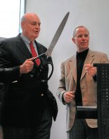 At the grand opening of the Charles Stewart Mott Gallery Wing at the Flint Institute of Arts — 2006.