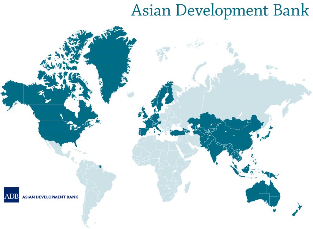 Asian Development Bank map