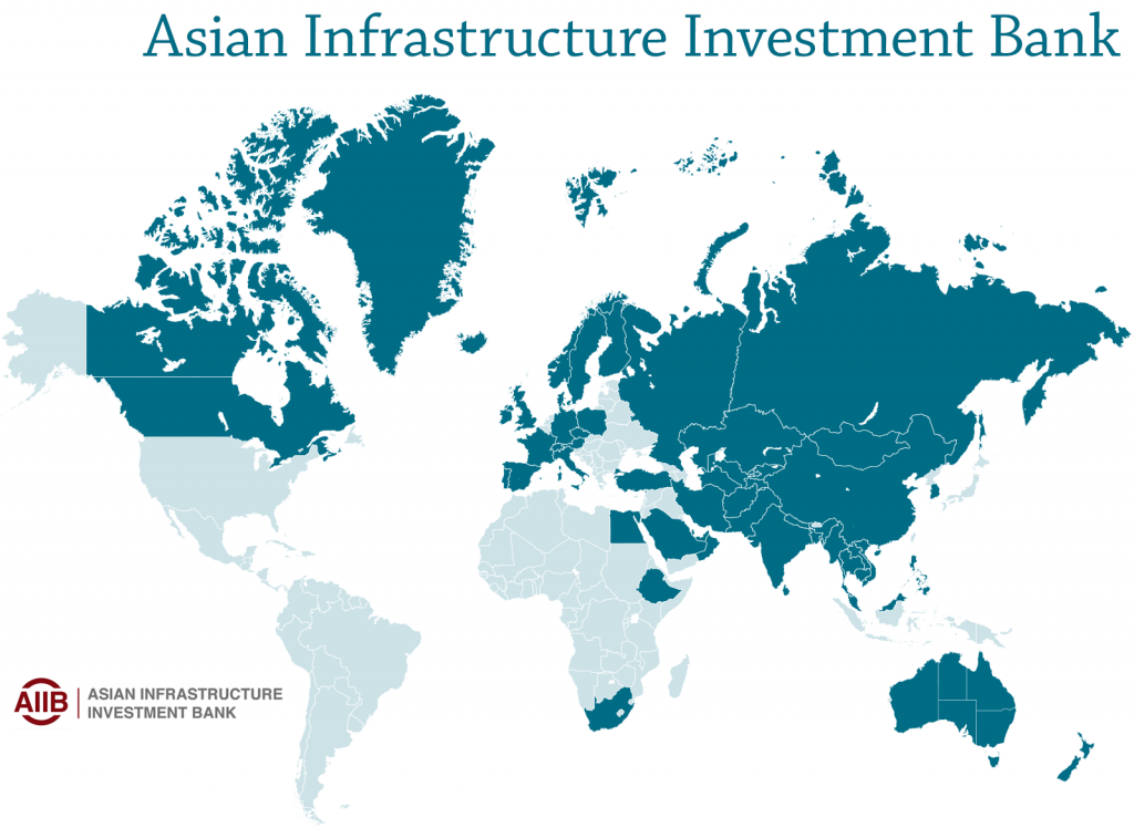 Asian Infrastructure Investment Bank map
