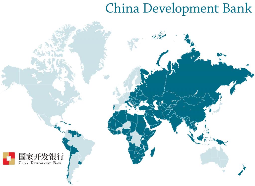 China Development Bank map